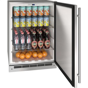 "U-LineOutdoor Collection 24"" Refrigerator With Stainless Solid Finish and Field Reversible Door Swing (115 Volts / 60 Hz)"