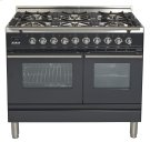 "40"" - 6 Burner, Double Oven in Matte Graphite Product Image"