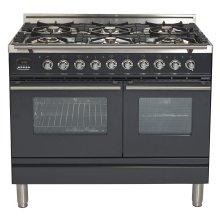"""40"""" - 6 Burner, Double Oven in Matte Graphite"""