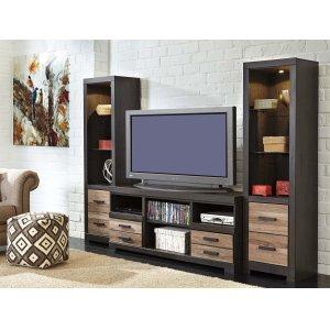 Ashley Furniture Harlinton - Two-Tone 3 Piece Entertainment Set