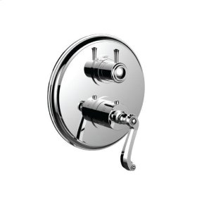 "1/2"" Thermostatic Trim With Volume Control and 3-way Diverter in Satin Nickel"