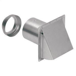 "BroanWall Cap, Aluminum, for 3"" and 4"" round duct"