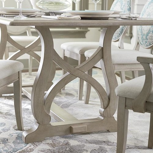 """Custom Dining 101"""" Table with Wood Base"""