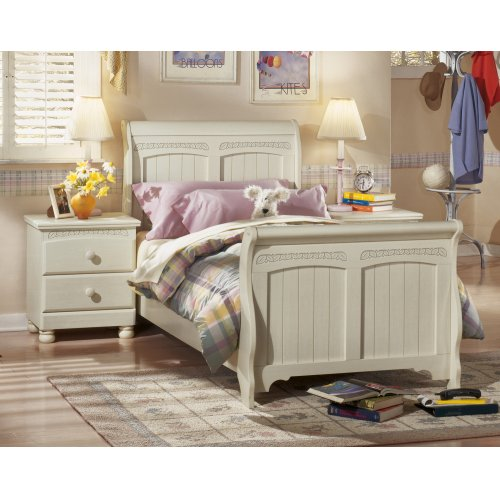 Vintage Casual Twin Sleigh Bed