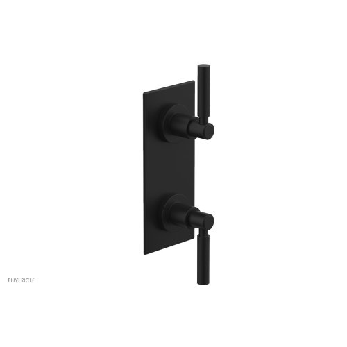 "BASIC 1/2"" Thermostatic Valve with Volume Control or Diverter Lever Handles 4-344 - Matte Black"