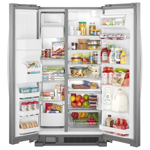 36-inch Wide Side-by-Side Refrigerator - 25 cu  ft