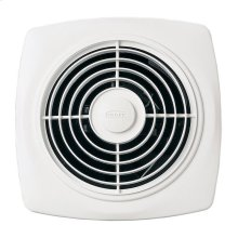 "10"" 270 CFM Through Wall Ventilation Fan, White Square Plastic Grille"