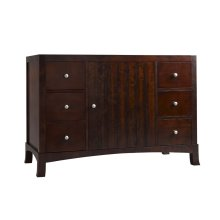 "Hampton 48"" Bathroom Vanity Cabinet Base in Vintage Walnut"