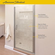 Semi-Frameless Swing Shower Door  American Standard - Brushed Nickel