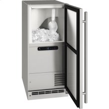 "Outdoor Collection 15"" Clear Ice Machine With Stainless Solid Finish and Field Reversible Door Swing, Pump Included (115 Volts / 60 Hz)"