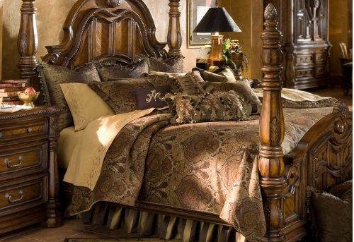 12PC.Queen Comforter Set Olive