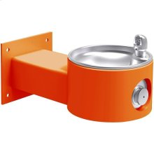 Elkay Outdoor Fountain Wall Mount, Non-Filtered Non-Refrigerated, Orange