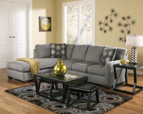 Zella - Charcoal 2 Piece Sectional