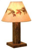 Barnwood Table Lamp - with Large Foliage Lamp Shade (Shade #19245-L) Product Image