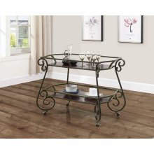 Traditional Dark Bronze and Cappuccino Serving Cart