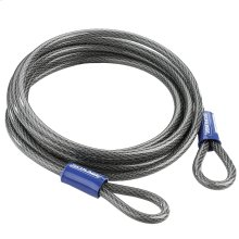 """Double Loop Cable  15' x 3/8"""" Steel Cable - No Finish"""