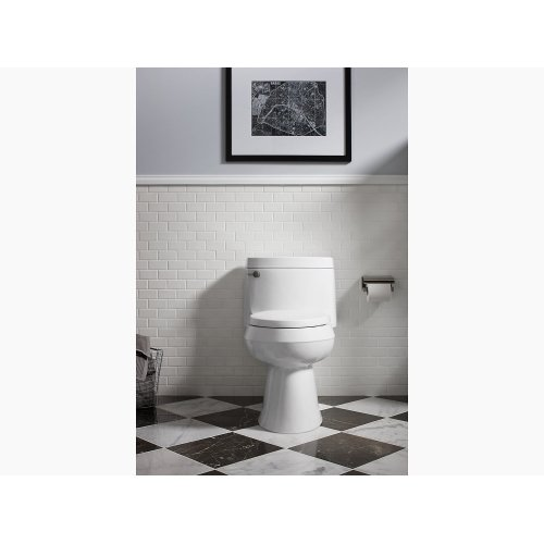 Ice Grey Comfort Height One-piece Elongated 1.28 Gpf Toilet With Aquapiston Flush Technology, Left-hand Trip Lever and Concealed Trapway