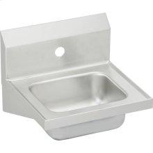 "Elkay Stainless Steel 16-3/4"" x 15-1/2"" x 13"", Single Bowl Wall Hung Handwash Sink"