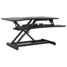 """30.25""""W Black Sit / Stand Height Adjustable Desk with Height Lock Feature"""