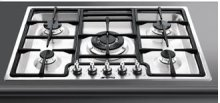 "Gas Cooktop, 72 cm (approx. 28""), Stainless Steel"