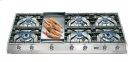 "Stainless Steel with Stainless Steel Trim 48"" - Professional Gas Cooktop Product Image"