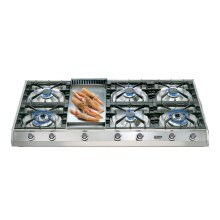 """Stainless Steel with Stainless Steel Trim 48"""" - Professional Gas Cooktop"""
