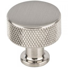 Beliza Cylinder Knurled Knob 15/16 Inch Brushed Satin Nickel