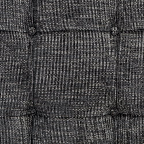 La Brea Button-Tuft Upholstered Headboard with Adjustable Height, Carbon Black Finish, Full / Queen