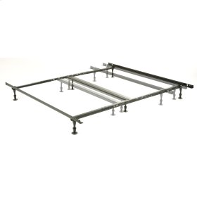 Harvard Adjustable NH850G Heavy Duty Bed Frame with Keyhole Cross Arms and (6) 2-Piece Glide Legs, Queen / King / Cal King