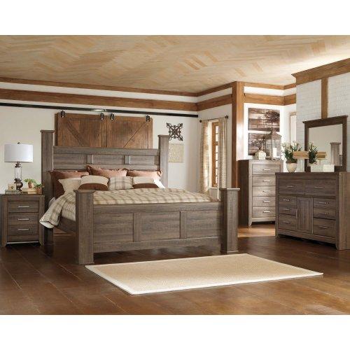 Juararo - Dark Brown 3 Piece Bed Set (Cal King)