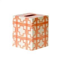 Kleenex Box Cream W. Orange SQUARES.