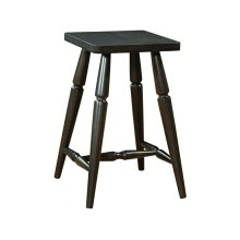Accent Stool in Black Pearl