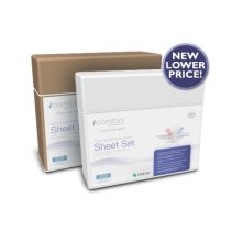 iComfort Luxury Sheet Set - White Dots - Queen