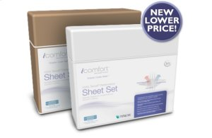 iComfort Luxury Sheet Set - White Dots - King