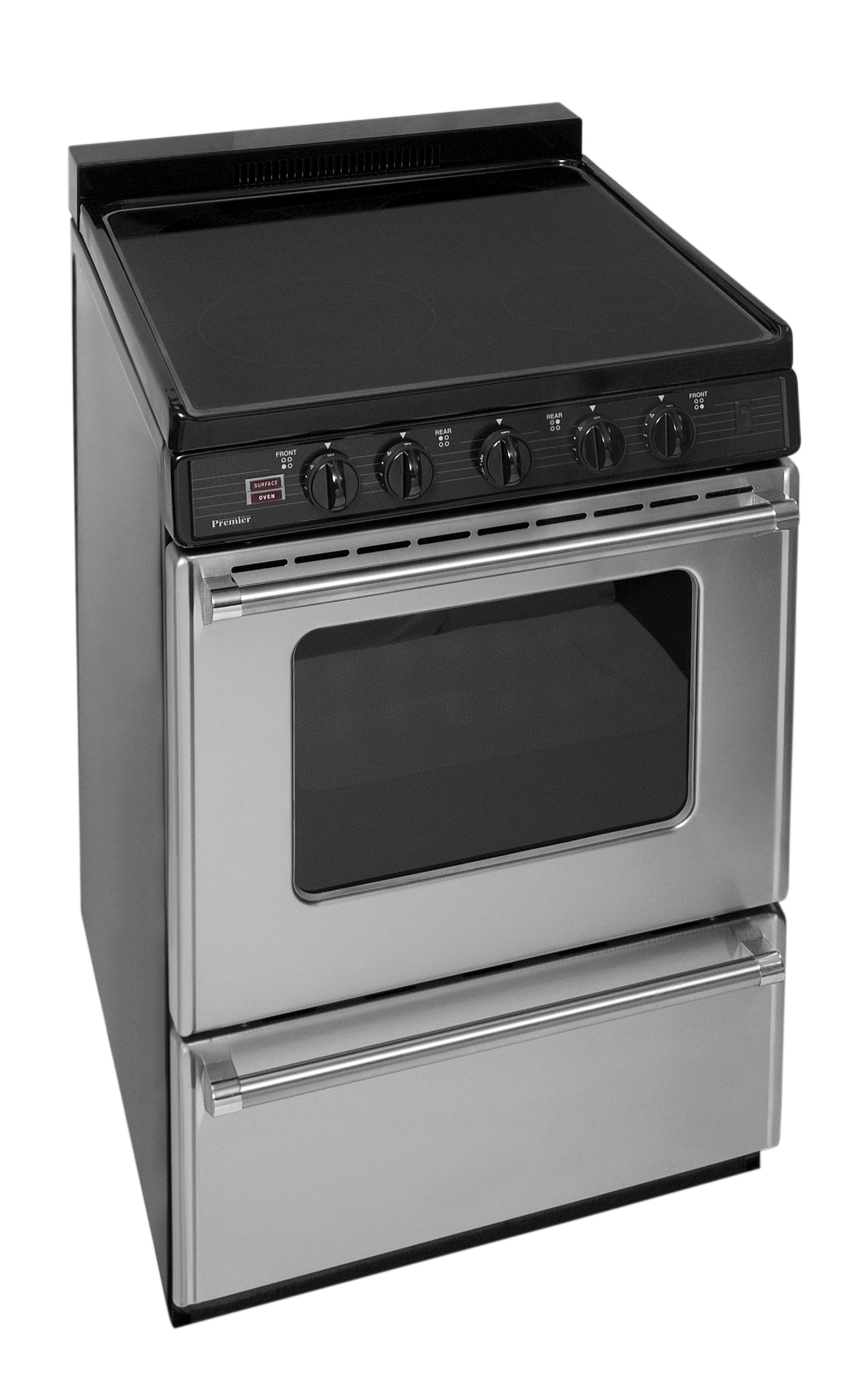 b5add375a53 Premier 24 in. Freestanding Smooth Top Electric Range in Stainless Steel