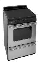 24 in. Freestanding Smooth Top Electric Range in Stainless Steel Product Image