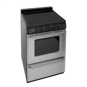 Premier24 in. Freestanding Smooth Top Electric Range in Stainless Steel