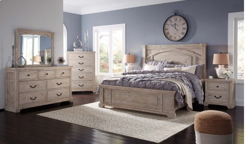 Charmyn - White Wash 2 Piece Bedroom Set