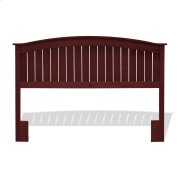 Finley Wood Headboard Panel with Curved Top Rail and Slatted Grill Design, Merlot Finish, Full / Queen Product Image
