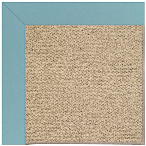 Creative Concepts-Cane Wicker Canvas Mineral Blue Machine Tufted Rugs