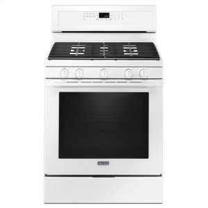 Maytag 30-Inch Wide Gas Range With True Convection And Power Preheat - 5.8 Cu. Ft. White