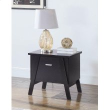 Mid-century Modern Red Cocoa One-drawer End Table