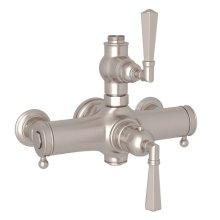 Satin Nickel Palladian Exposed Thermostatic Valve with Metal Lever