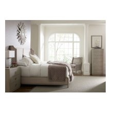 Cinema by Rachael Ray Upholstered Shelter Bed, CA King 6/0
