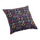 Kitten Small Outdoor Pillow Chocolate Base And Multicolor Pattern Product Image