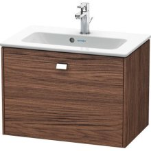 Vanity Unit Wall-mounted Compact, Walnut Dark Decor