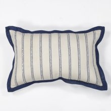 "L167 Ivory Nautical Stripes Pillow 12"" X 20"""