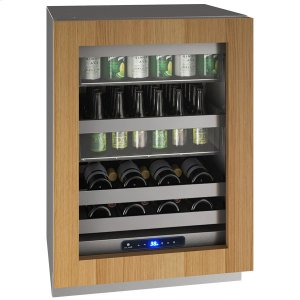"U-Line24"" Beverage Center With Integrated Frame Finish and Field Reversible Door Swing (115 V/60 Hz Volts /60 Hz Hz)"