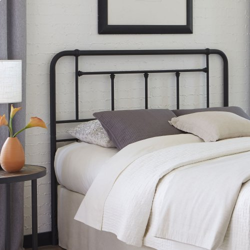 Baldwin Metal Headboard with Detailed Castings, Textured Black Finish, Queen