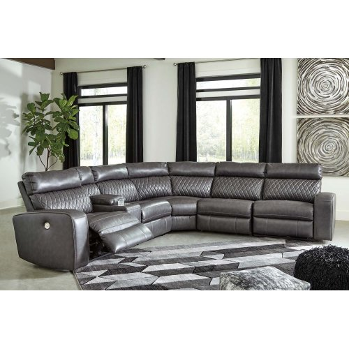 Samperstone - Gray 3 Piece Sectional